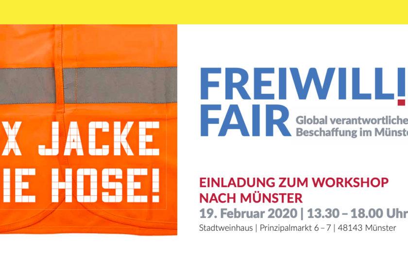 Freiwillig Fair Veranstaltung