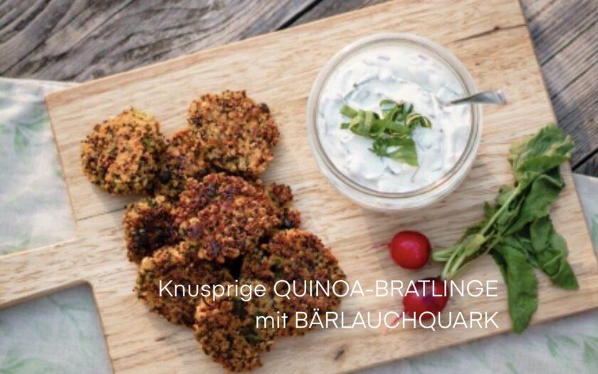 Quinoa Bratlinge mit Bärlauchquark